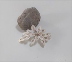 Accesorios para el cabello hechos a mano, peineta de pelo de flores para novia