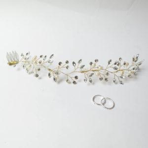 Cristales swarowsky en diadema de Novia