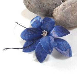 peineta para damas de honor adorno azul para el cabello con plumas, fiesta de dia cabello recogido o suelto